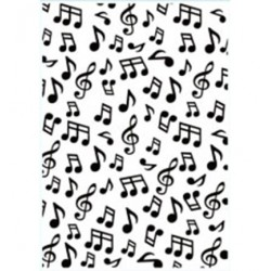 (HSF024)Embossing Folder backgrounds Musical notes