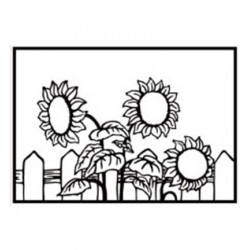 (HSF026)Embossing Folder Sunflowers