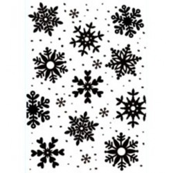 (HSFC009)Embossing Folders Christmas Backgrounds: Snowflakes