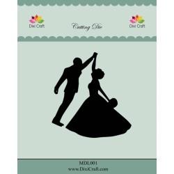 (MDL001)Dixi Craft Wedding Couple Metal Cutting Die