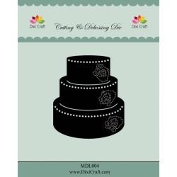 (MDL004)Dixi Craft Wedding Cake Metal Cutting & Debossing Die