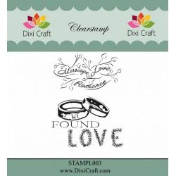 (STAMPL003)Dixi Clear Stamp Dixi Craft English Texts