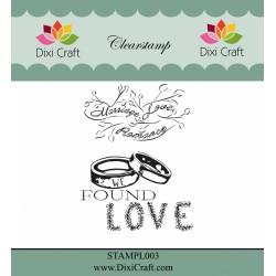 (STAMPL003)Dixi Clear Stamp Dixi Craft English Texts