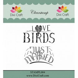 (STAMPL004)Dixi Clear Stamp Dixi Craft English Texts