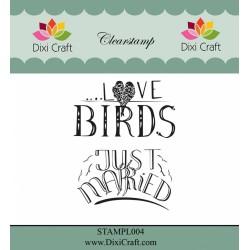 (STAMPL004)Dixi Clear Stamp Dixi Craft English Texts