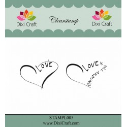 (STAMPL005)Dixi Clear Stamp Dixi Craft English Texts