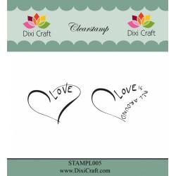 (STAMPL005)Dixi Clear Stamp Dixi Craft English Texts