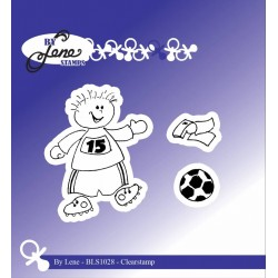 (BLS1028)By Lene Boy with Football Clearstamps