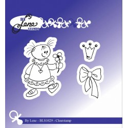 (BLS1029)By Lene Girl with Bow Clearstamps