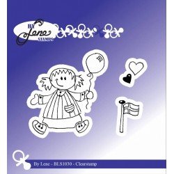 (BLS1030)By Lene Girl with Balloon Clearstamps
