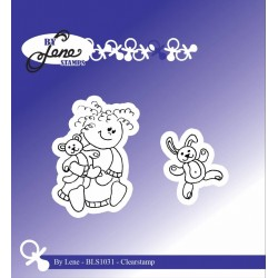 (BLS1031)By Lene Girl with Teddybear Clearstamps