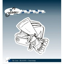 (BLS1058)By Lene Clearstamp Motorcycle Accessories