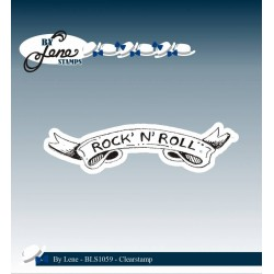 (BLS1059)By Lene Clearstamp Rock' N' Roll
