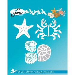 (BLD1094)By Lene Cutting & Embossing Dies Crab & Miscellaneous