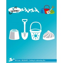 (BLD1095)By Lene Cutting & Embossing Dies Beach Toys
