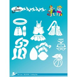 (BLD1096)By Lene Cutting & Embossing Dies Summer Kids