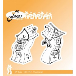 (BLS1063)By Lene Clearstamp Crooked Houses 1