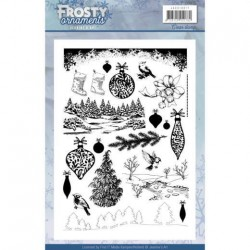 (JACS10017)Clearstamp - Jeanine's Art - Frosty Ornaments