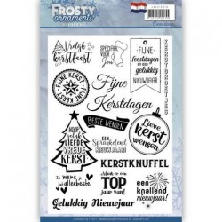 (JACS10018)Textstamp - Jeanine's Art - Frosty Ornaments - NL