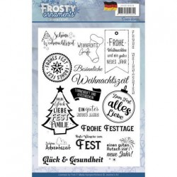 (JACS10020)Textstamp - Jeanine's Art - Frosty Ornaments - DE