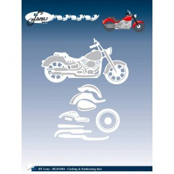 (BLD1084)By Lene Cutting & Embossing Dies Motorcycle