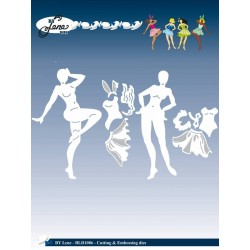(BLD1086)By Lene Cutting & Embossing Dies Pin-Up Girls