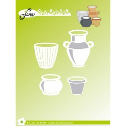 (BLD1088)By Lene Cutting & Embossing Dies Garden Pots