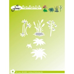 (BLD1089)By Lene Cutting & Embossing Dies Garden Flowers
