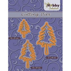 (HSFD026)Hobby Solution dies 3-pinetrees