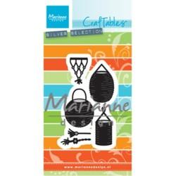 (CR1443)Craftables stencil Lampion set