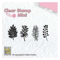 (MAFS007)Nellie's Choice Clear stamps Christmas branches-1