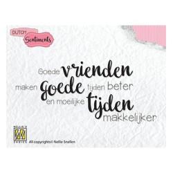 (SENCS006)Nellie's Choice Clear stamps Goede vrienden maken goede tijden beter...
