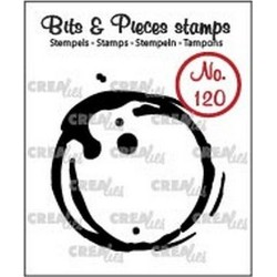 (CLBP120)Crealies Clearstamp Bits & Pieces no. 120 coffee stain L