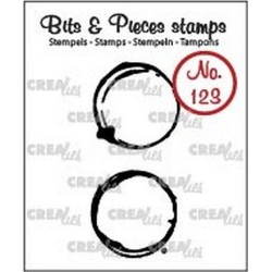 (CLBP123)Crealies Clearstamp Bits & Pieces no. 123 coffee stains M