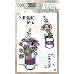 (COC-041)COOSA Crafts clearstamps A6 - Vase 1