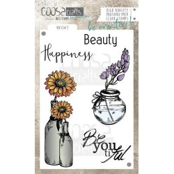 (COC-042)COOSA Crafts clearstamps A6 - Vase 2