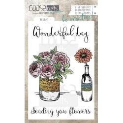(COC-043)COOSA Crafts clearstamps A6 - Vase 3