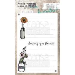 (COC-044)COOSA Crafts clearstamps A6 - Vase Envelope