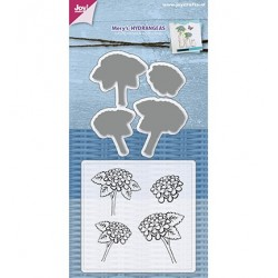 (6004/0031)Clear stamp / Stencil set Mery's Hydrangeas