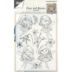 (6410/0483)Clear stamp Fairies & Flowers