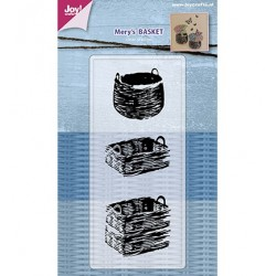 (6410/0485)Clear stamp Mery's Baskets