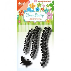 (6410/0490)Clear stamp Branches with butterfly