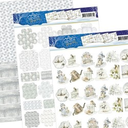 (PMMIN10002)3D Precious Marieke - Winter Wonderland - Mini`s & Labels