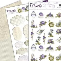 (PMMIN10004)3D Precious Marieke - Flowery - Minis & Labels