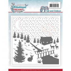 (YCEMB10009)Cut & Embossing Folder - Yvonne Creations - Christmas Dreams