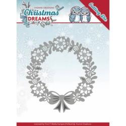 (YCD10143)Dies - Yvonne Creations - Christmas Dreams - Poinsettia Wreath