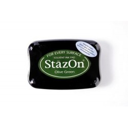 Stamp ink StazOn olive green
