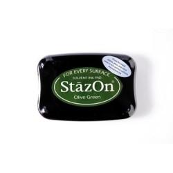 Stamp ink StazOn olive green
