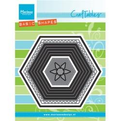 (CR1444)Craftables stencil Basic set: Hexagon
