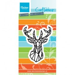 (CR1445)Craftables stencil Geometric deer